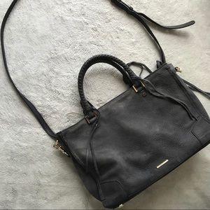Rebecca Minkoff Regan Satchel Tote Gray Leather